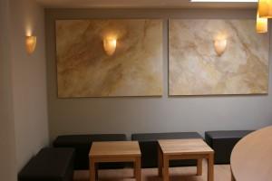 Dekorative Gestaltung Physiotherapie Münster Lounge