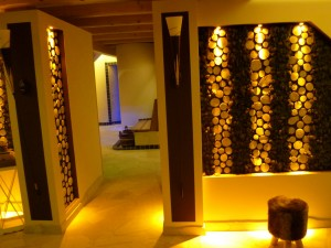 Spa Villa Wandgestaltung